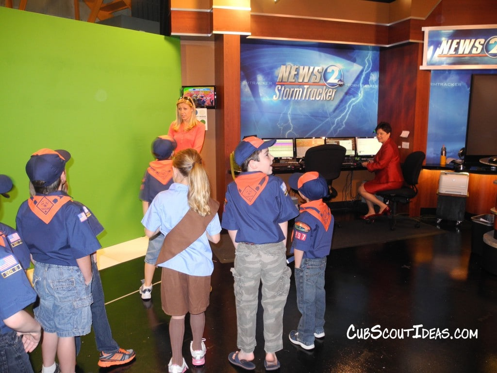 Cub Scout TV Station Visit