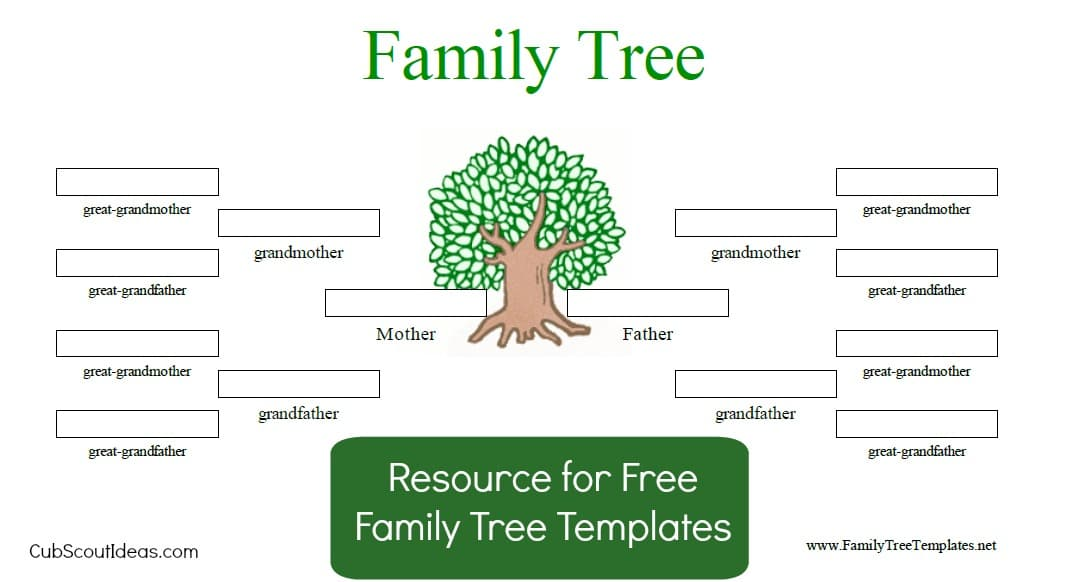Free Family Tree Template for Cub Scouts