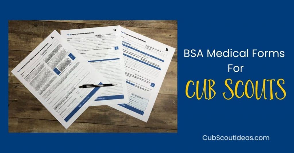 BSA medical form for cub scouts