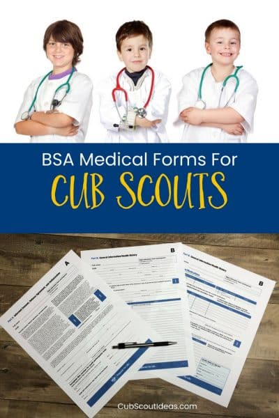 BSA medical form for cub scouts p