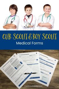 Cub Scout & Boy Scout medical form
