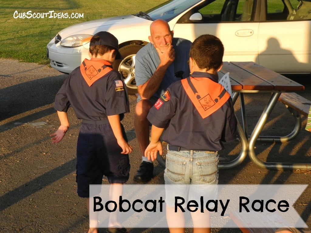 Cub Scout Advancement:  Bobcat Rank Relay Race Game