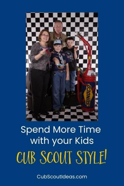 cub scout spend more time with children