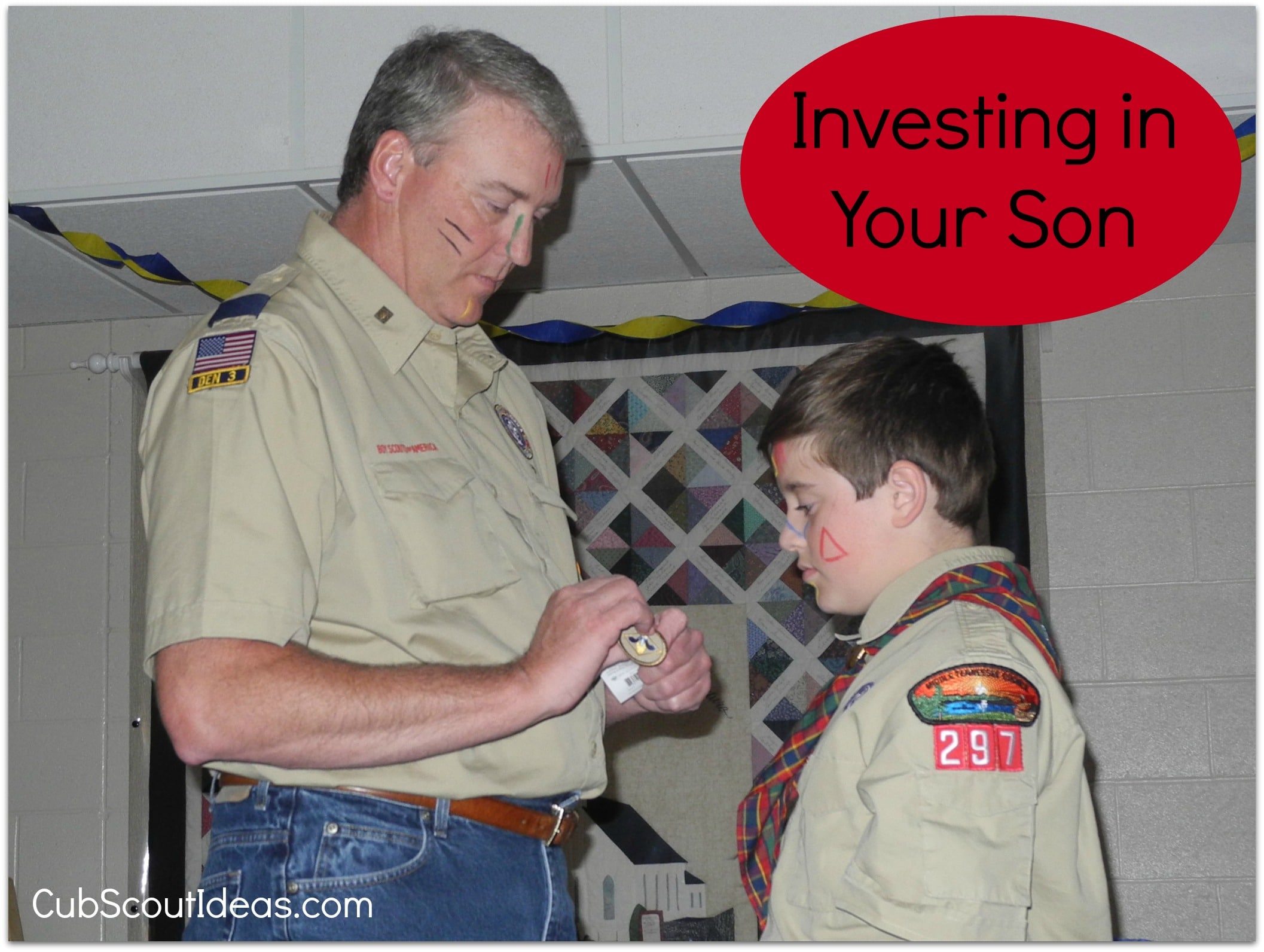 cub scout investing in your son