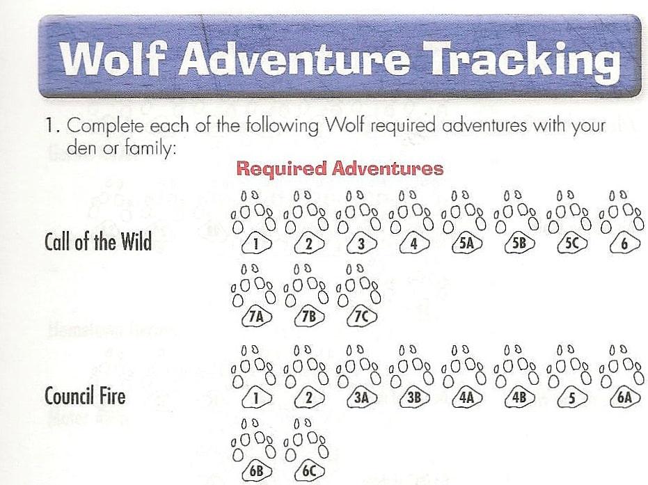 Cub Scout Advancement Record
