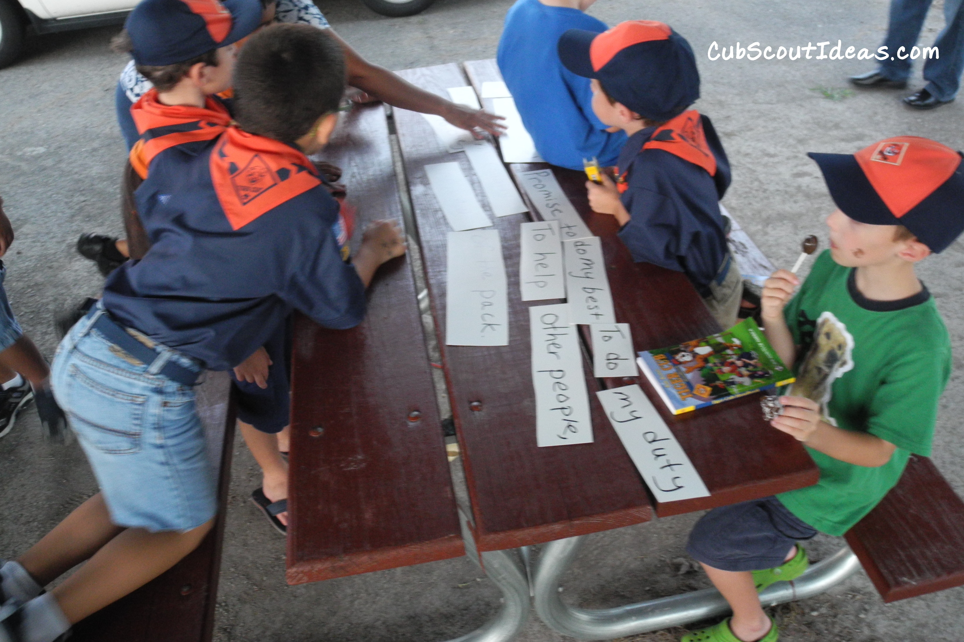 Cub Scout Activities:  Scout Oath and Law Puzzle Game