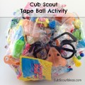 Cub Scout tape ball activity
