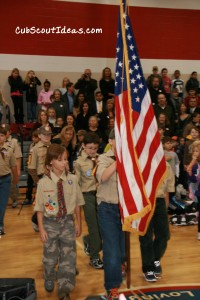 Flag Ceremony at school
