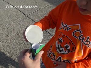 Alka Seltzer Rocket adding water