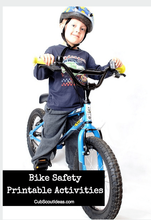 Bicycle Safety Printable Activities for Cub Scouts