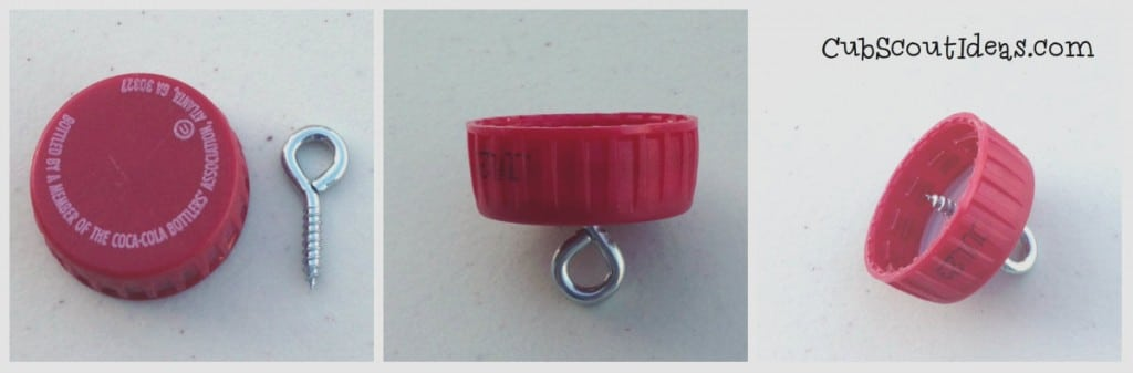 Eye screw in cap