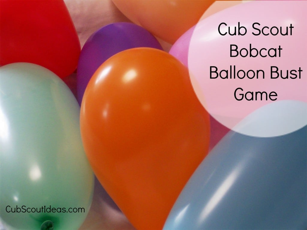 Cub Scout Bobcat balloon bust game
