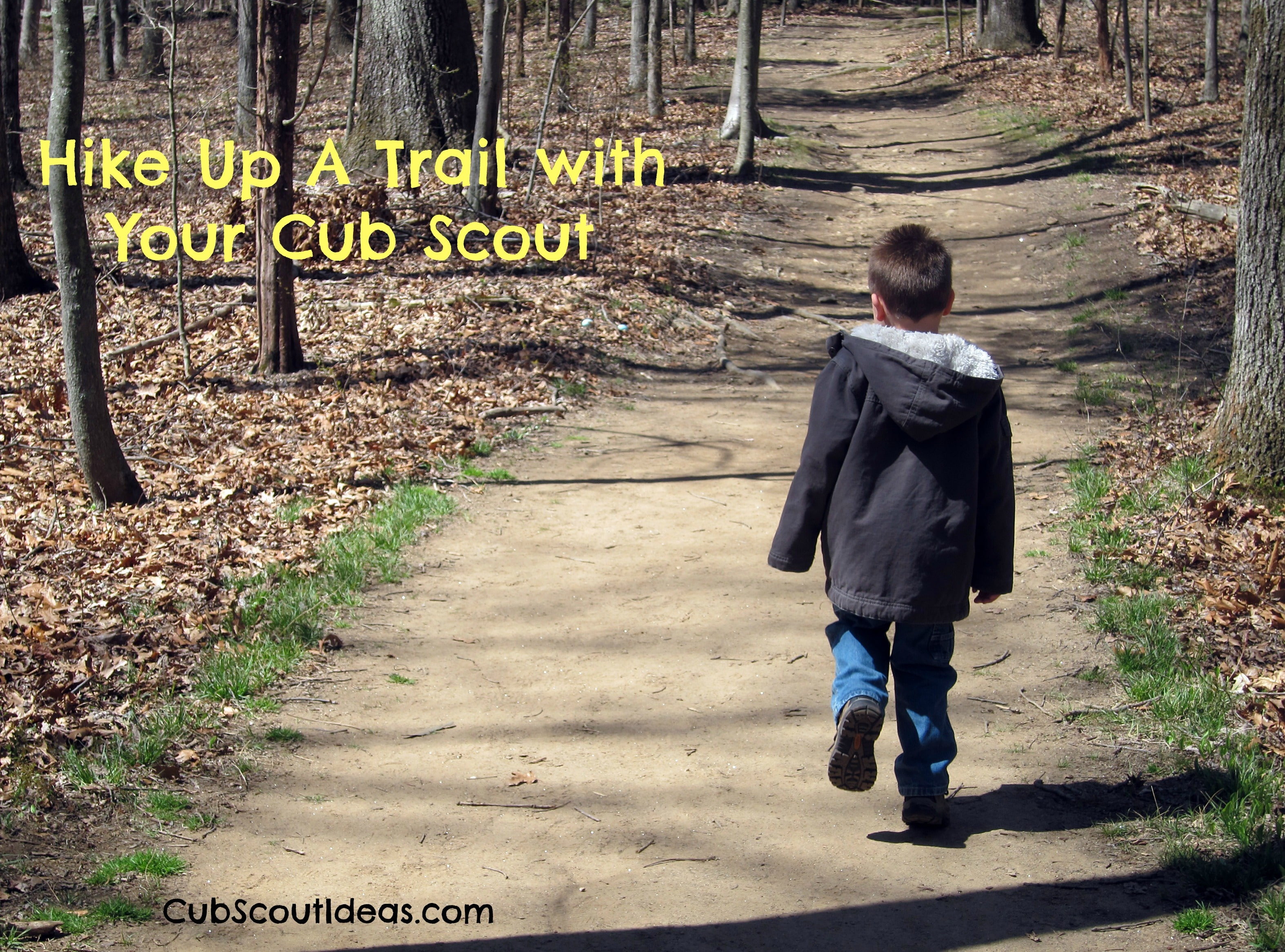 cub scout hiking with your cub scout