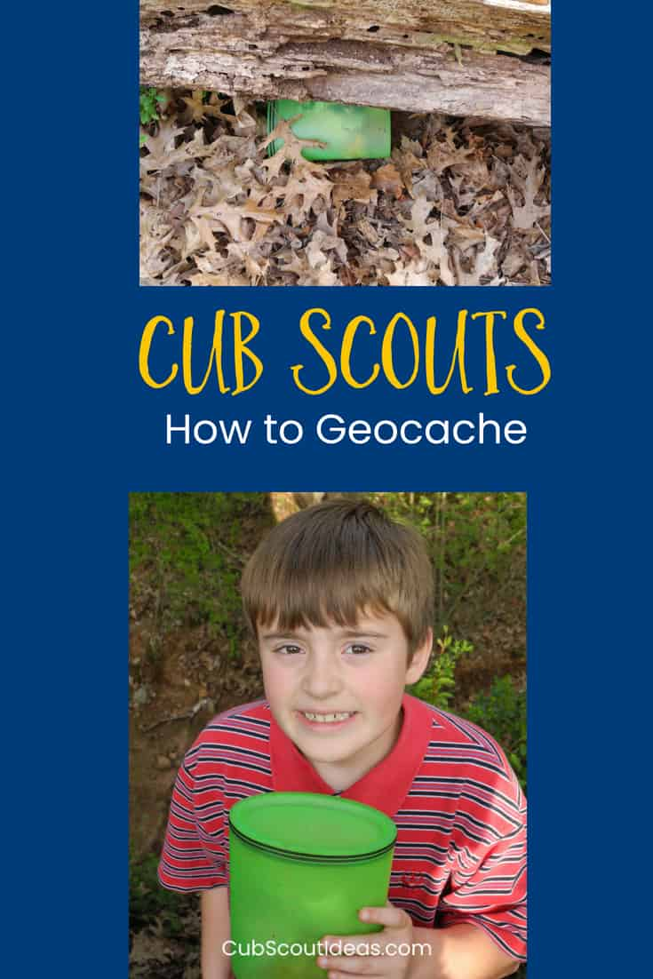 Cub Scouts learn how to geocache