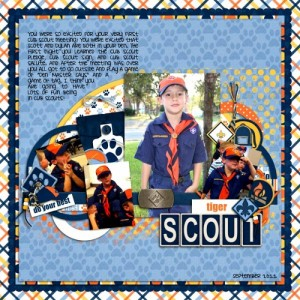 Do Your Best Cub Scout digital scrapbook kit