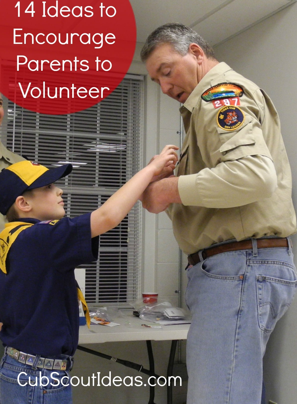 Encouraging parents to volunteer