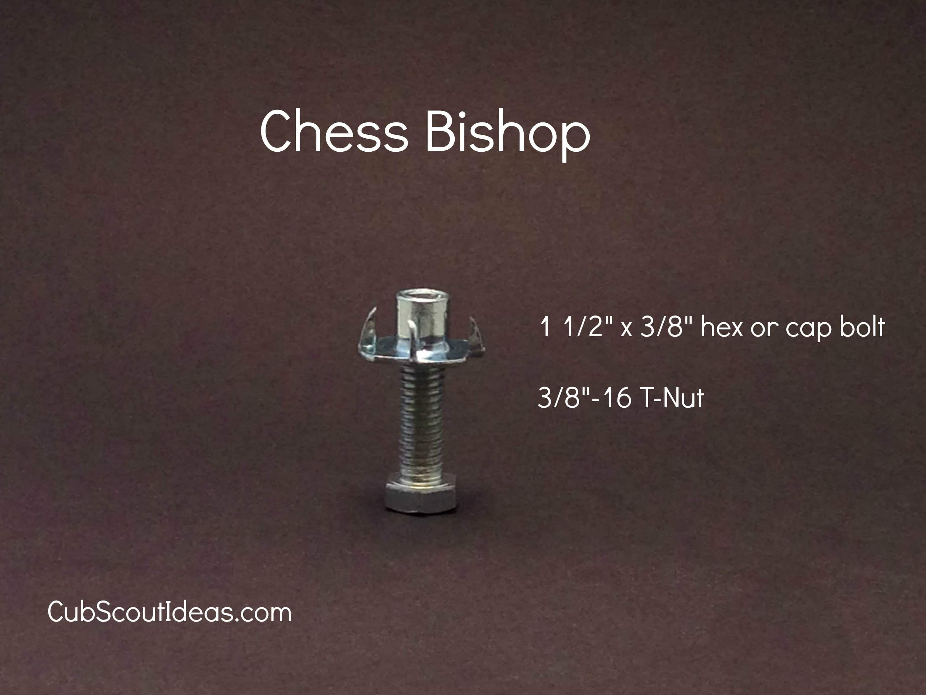 chess bishop from nuts and bolts