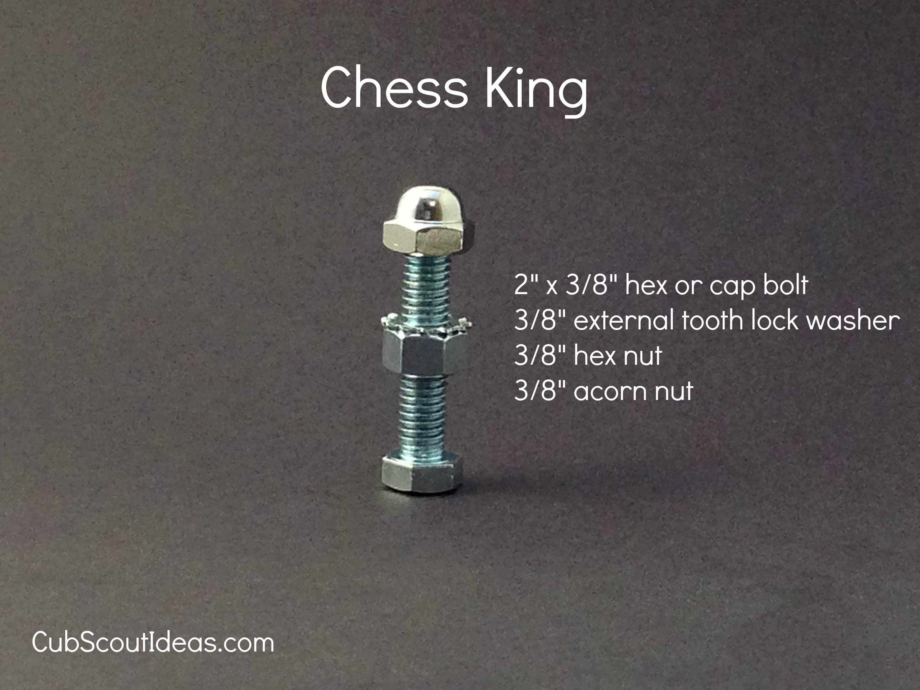 chess king from nuts and bolts