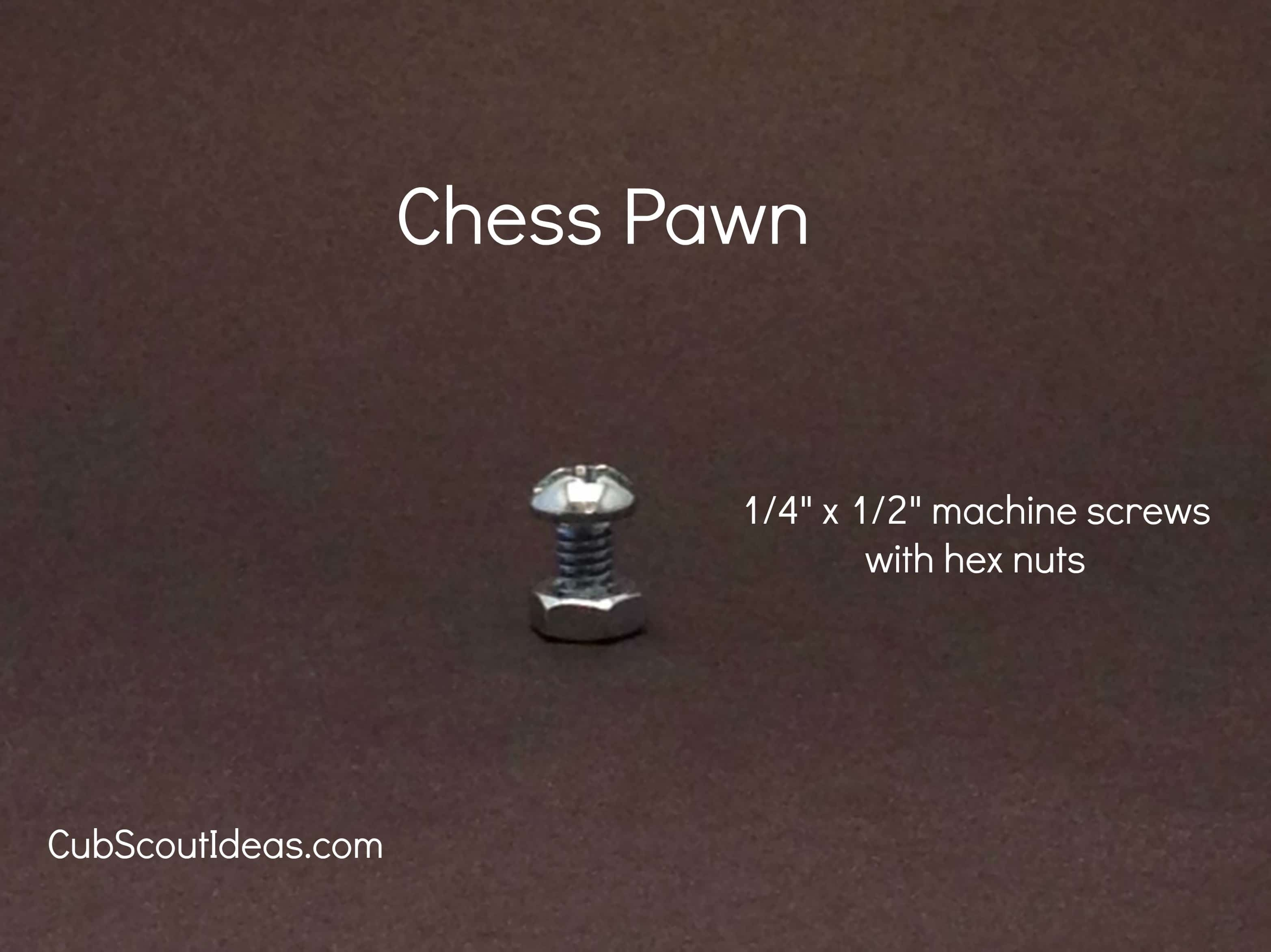 chess pawn from nuts and bolts