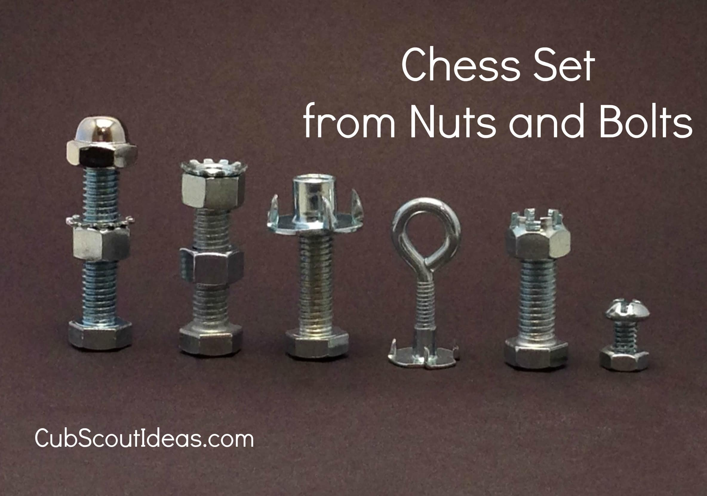 cub scout chess with nuts and bolt