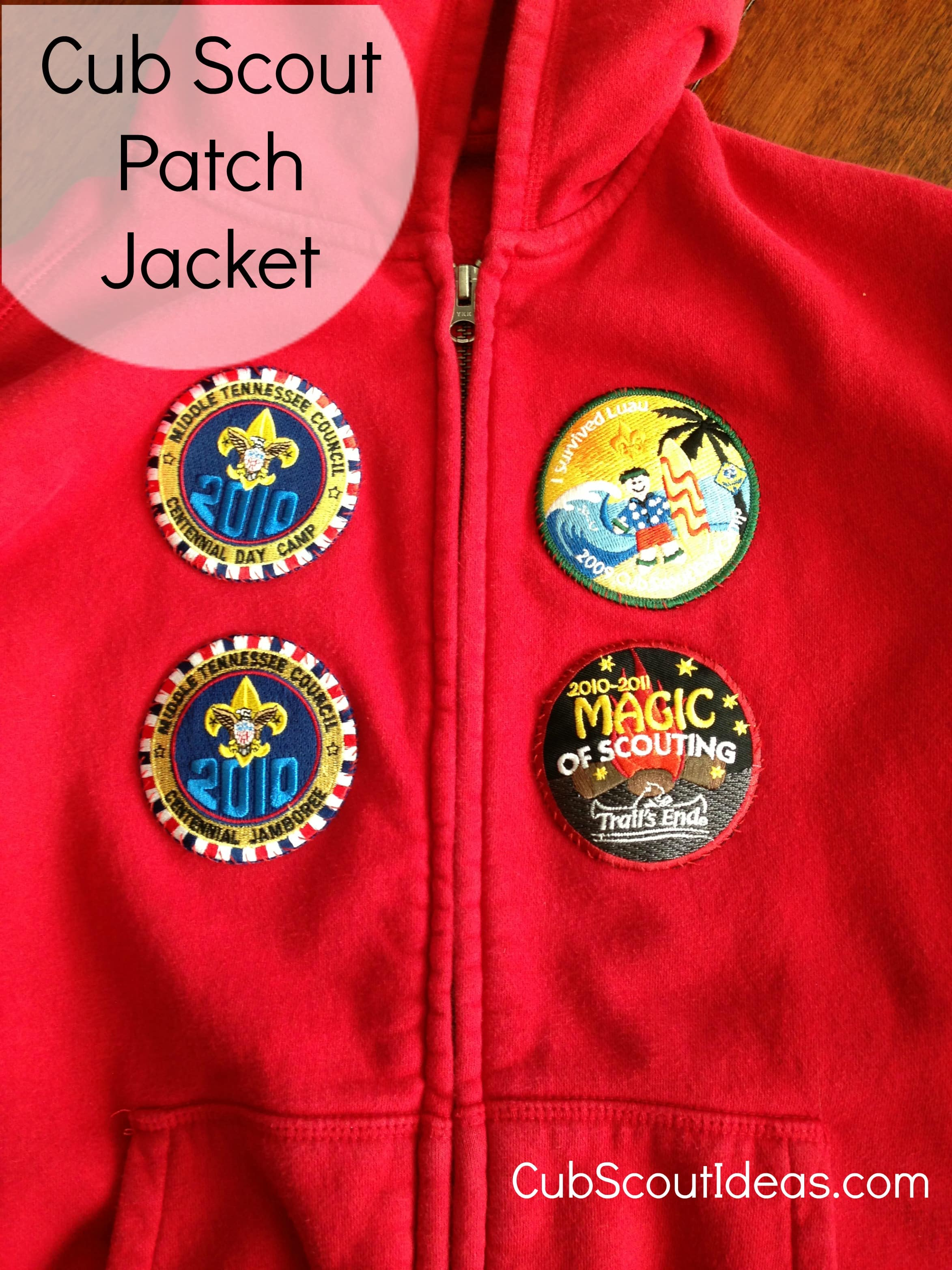 cub scout patch jacket