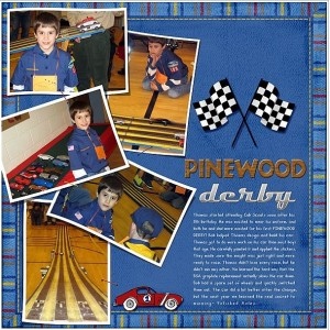 cub scout scrapbook layout idea