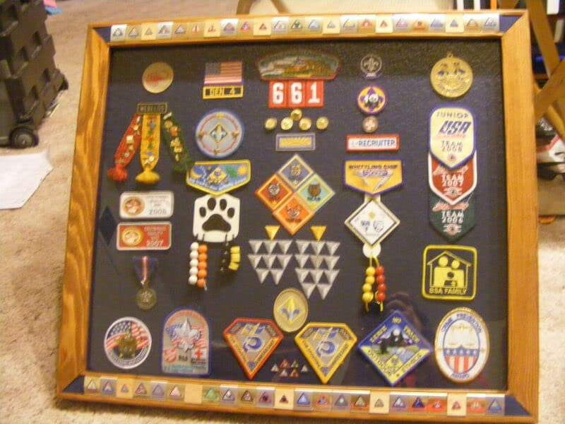 Cub Scout patch shadow box