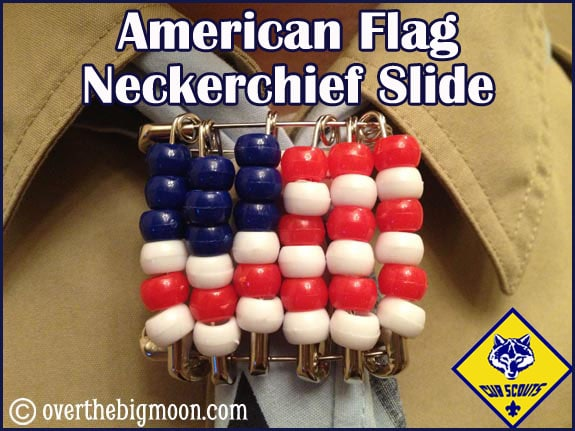 Flag neckerchief slide
