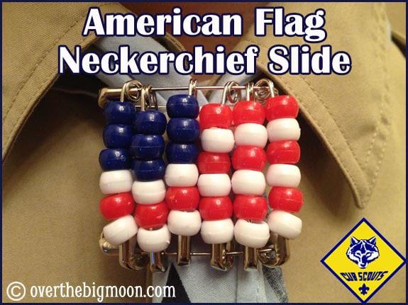 Flag neckerchief slide