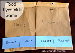 Cub Scout Nutrition Games