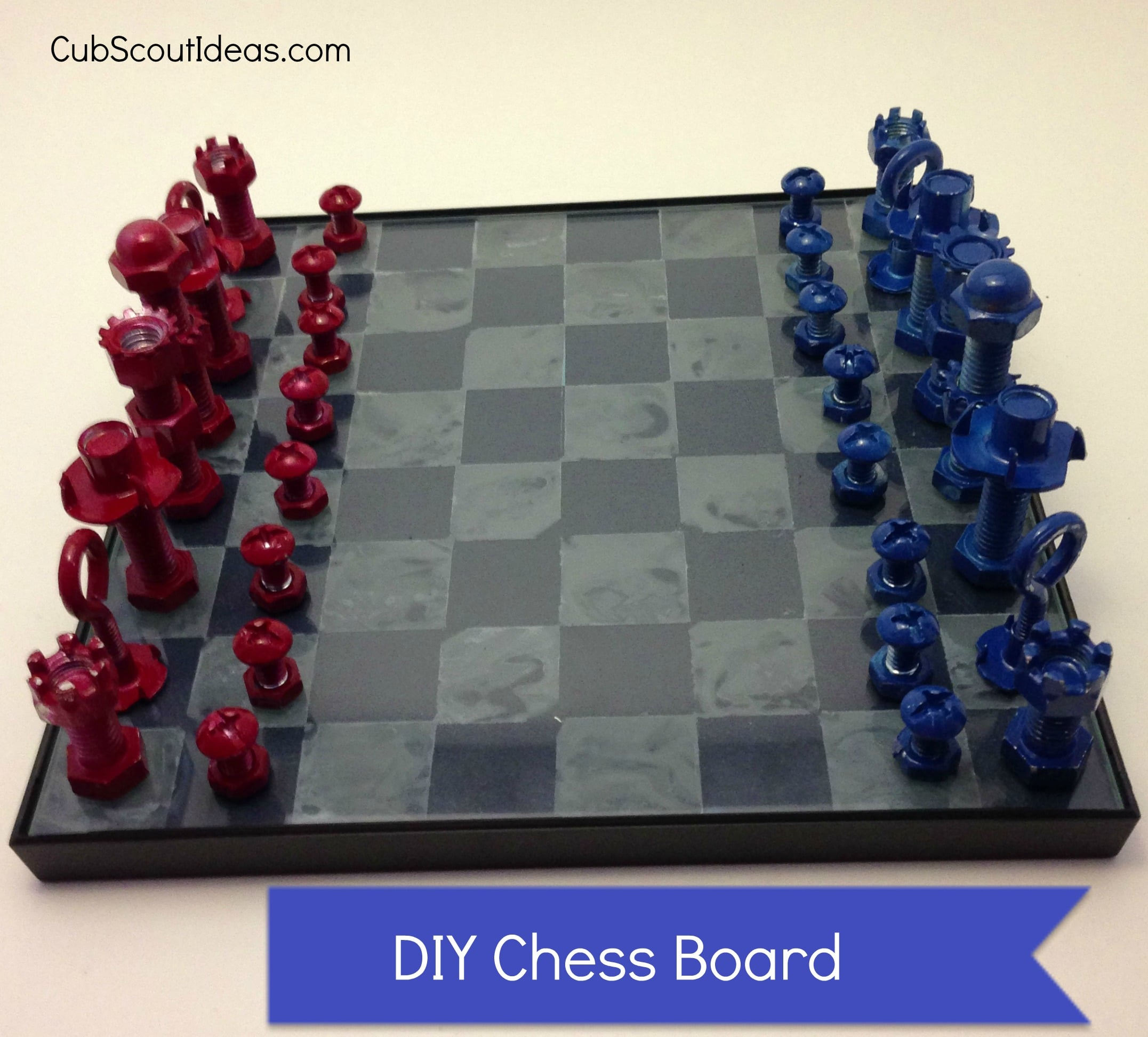cub scout finished chess board