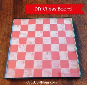 chess board red