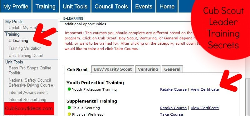 Cub Scout Leader training tip