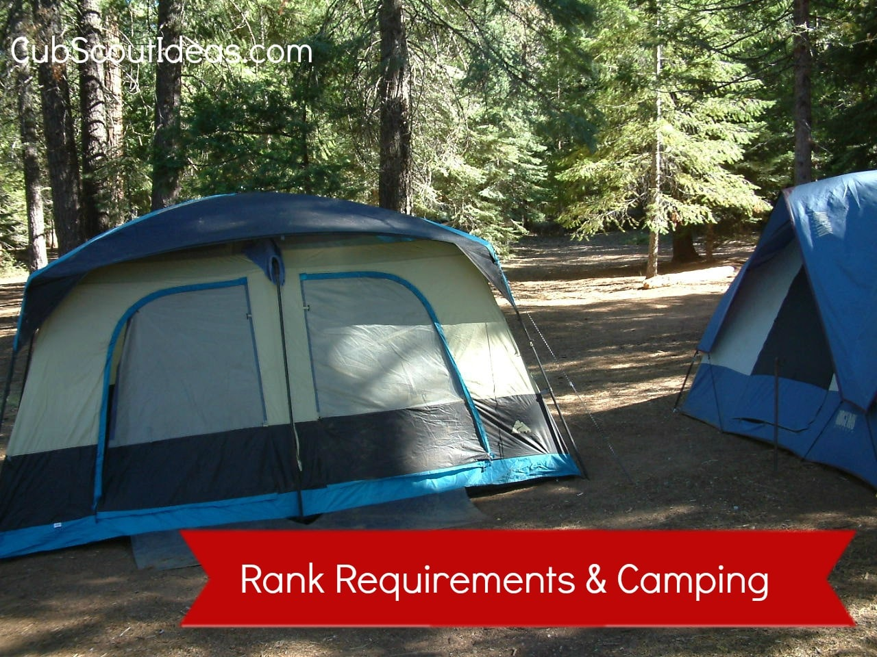 rank requirements and camping