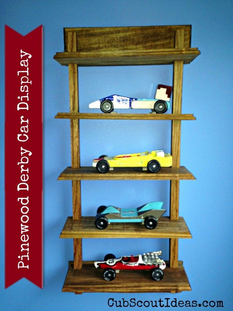 Pinewood Derby Car Display for Webelos Craftsman