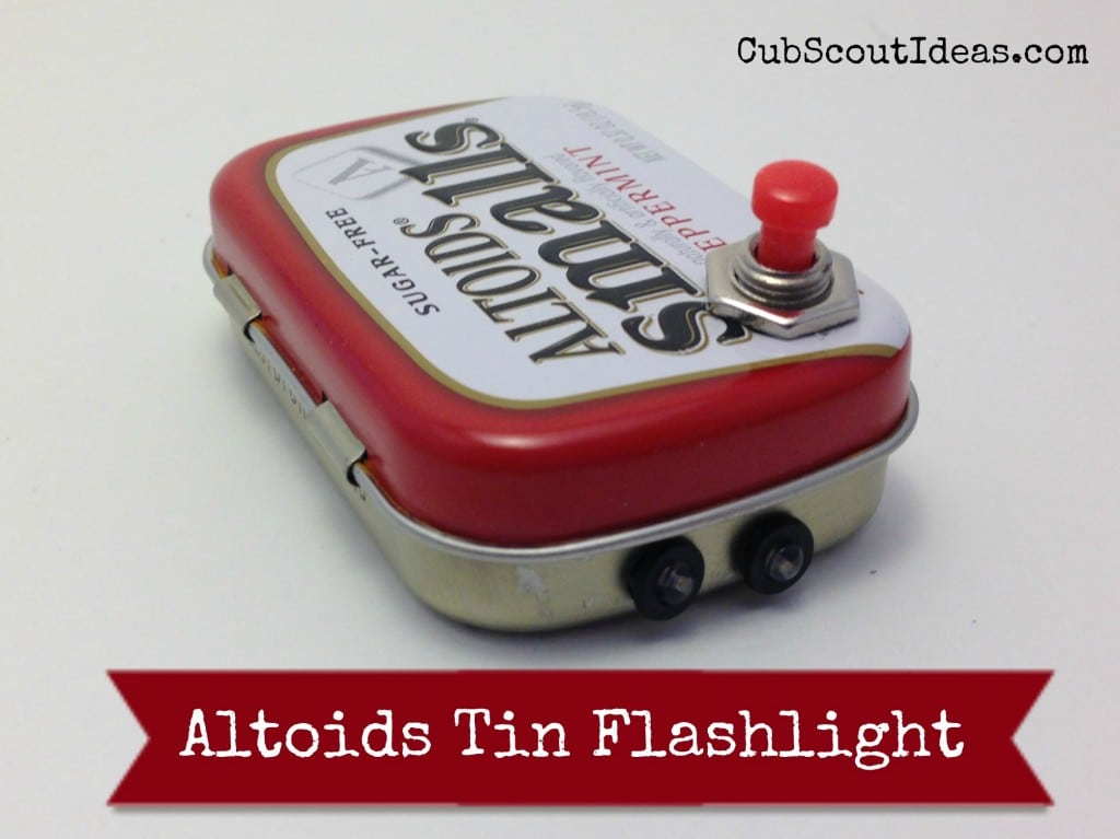 Webelos Craftsman Altoids Tin Flashlight