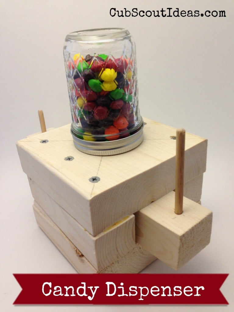 Webelos Craftsman Candy Dispenser