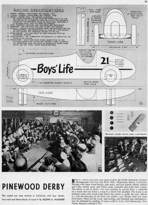 Pinewood Derby Article in Boys' Life Magazine