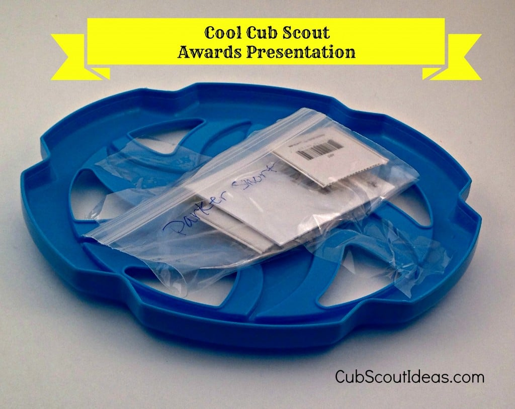 Cub Scout Awards Presentation with Frisbee