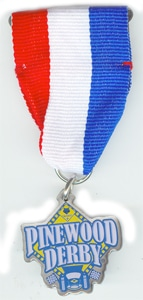 pinewood derby ribbon award