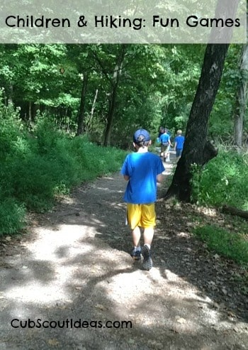 children and hiking: fun games