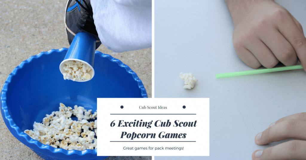 fun cub scout popcorn games