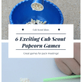 cool cub scout popcorn games