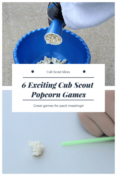 6 of the Most Exciting Cub Scout Popcorn Games