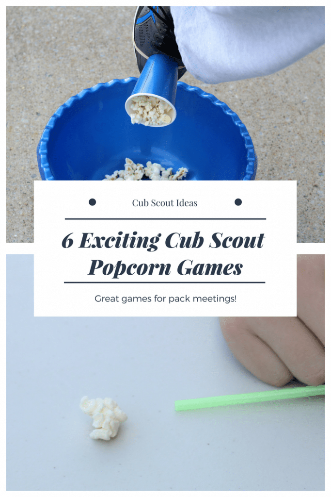cool cub scout popcorn games