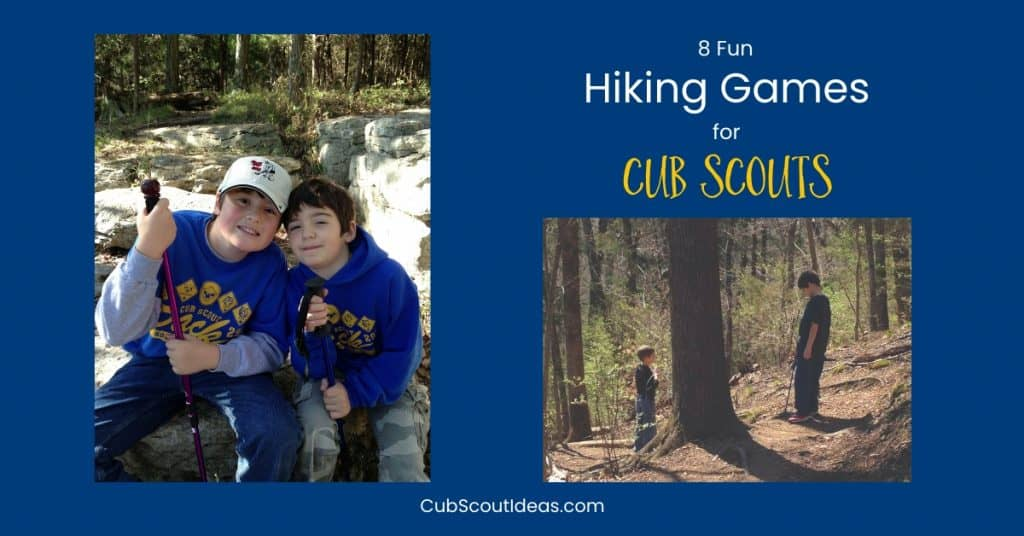more cub scout hiking games