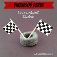 Cub Scout Neckerchief Slide Idea for Pinewood Derby