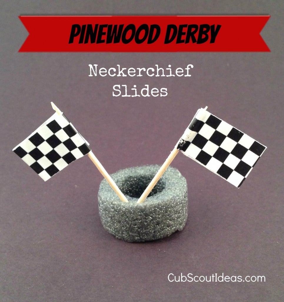 pinewood derby neckerchief slides1