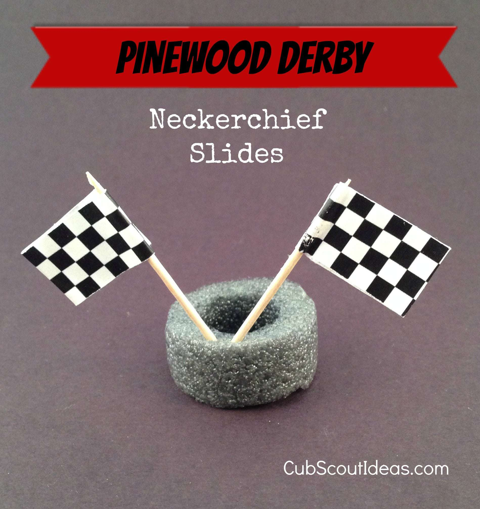 cub scout pinewood derby neckerchief slide 2