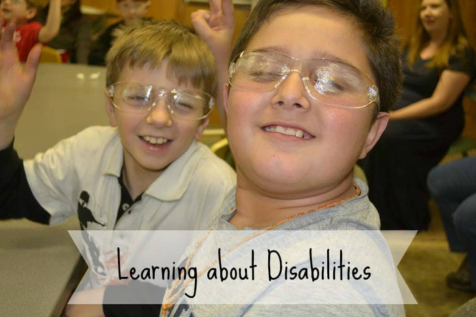Cub Scouts learning about disabilitites